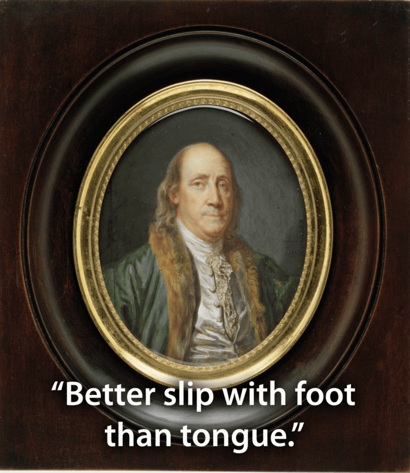 Framed Rendering Of Benjamin Franklin