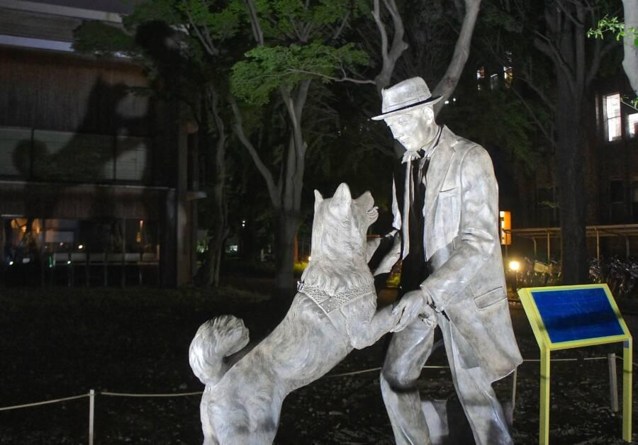 Hachiko And Ueno Statue