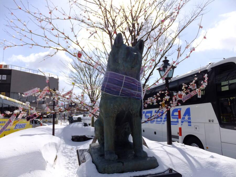 Hachiko Statue In Odate