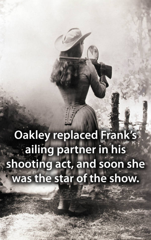 Annie Oakley Aiming With Mirror