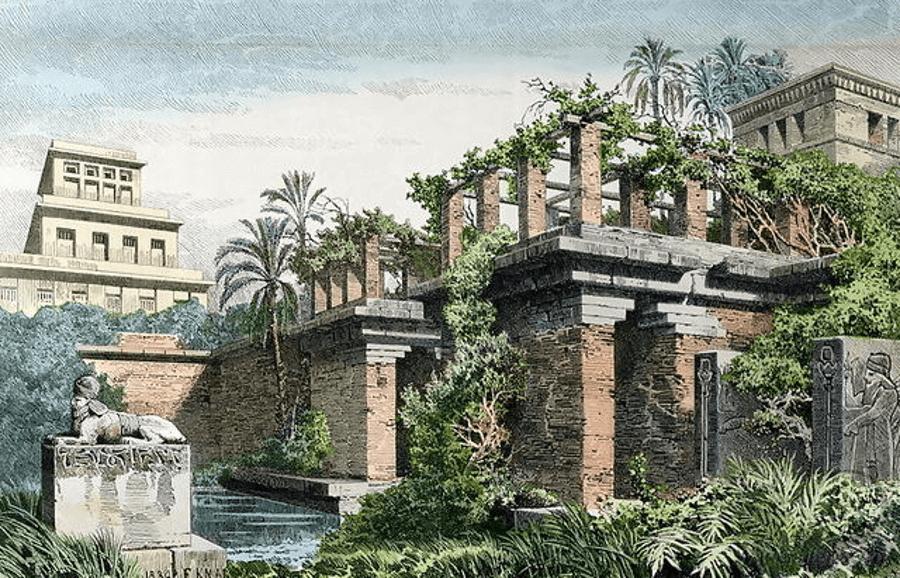 Hanging Gardens Of Babylon Painting