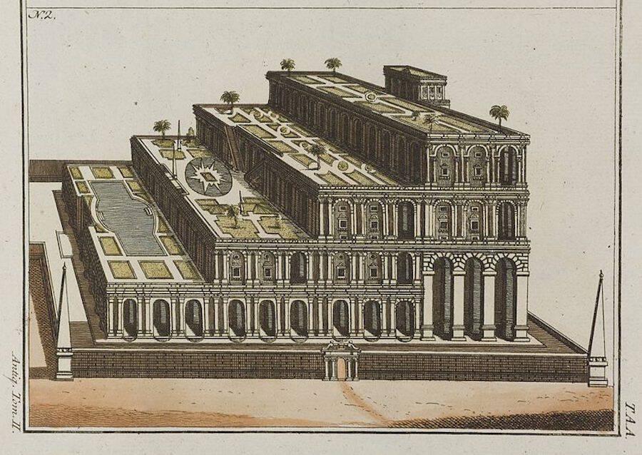 Plan For Hanging Gardens Of Babylon