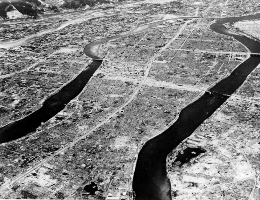 Hiroshima After Blast From Above