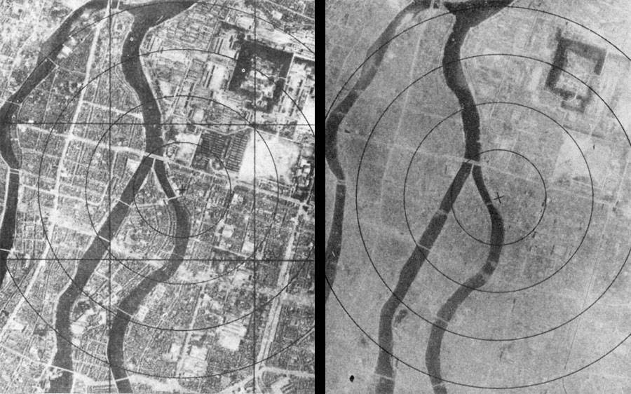 Hiroshima Before And After From Above