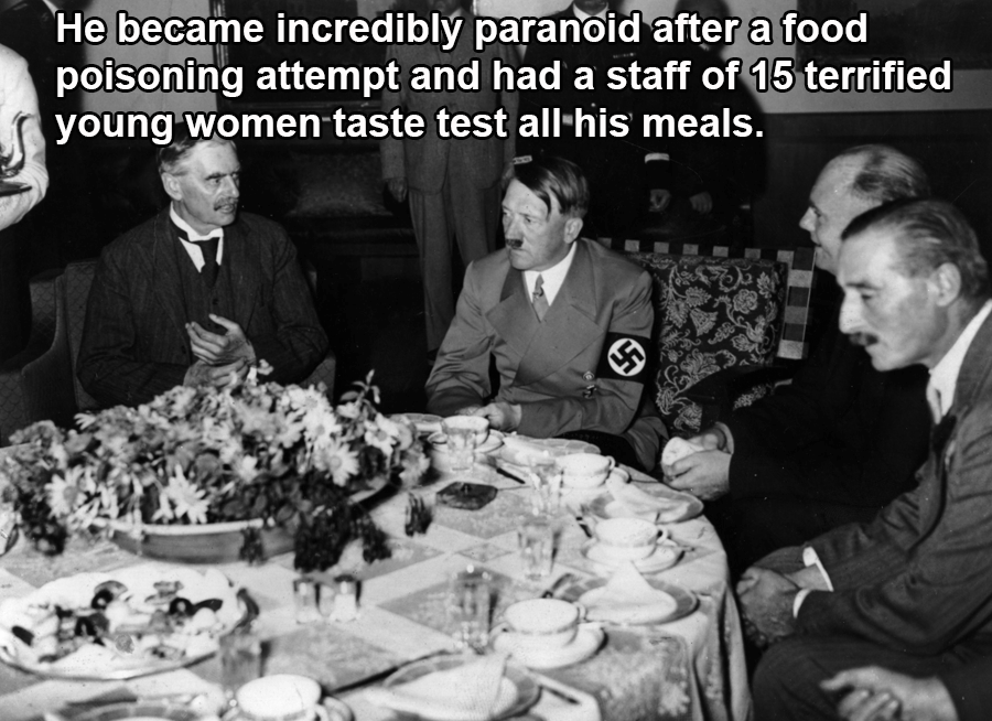 Hitler Sitting At A Table