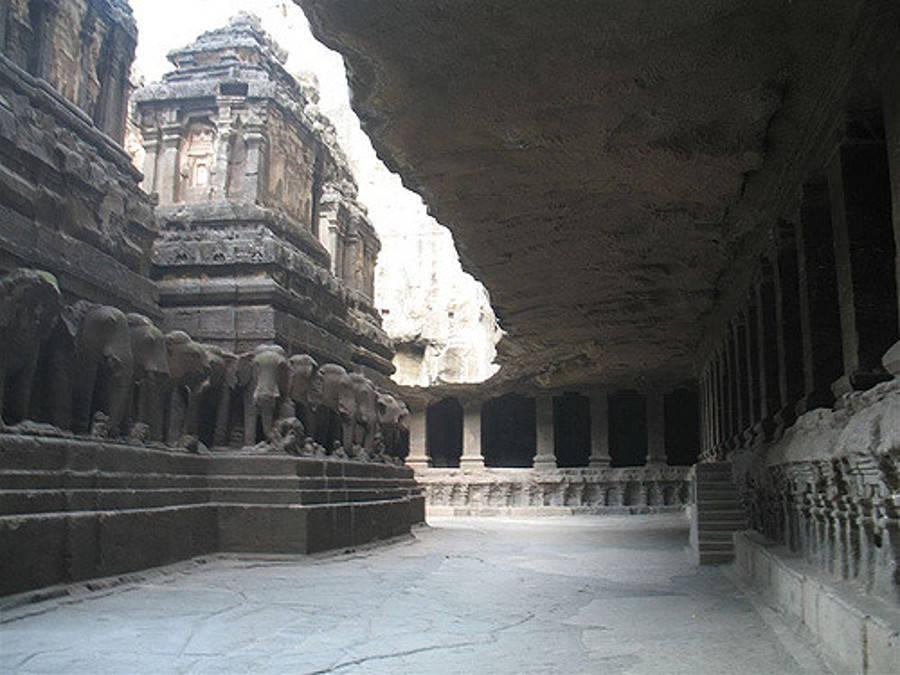 Kailasa Elephants Watch Over Kailasa Temple