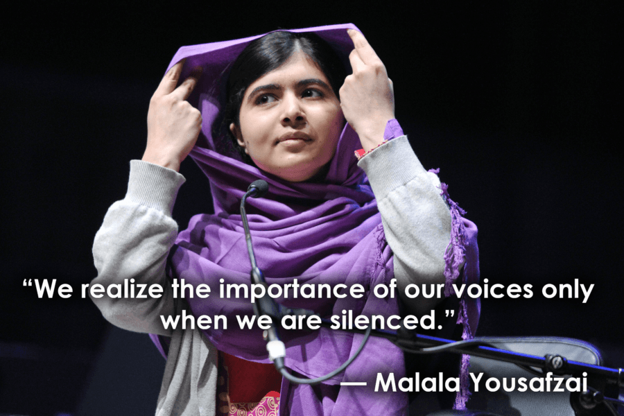 Inspirational Quotes For Women Malala Yousafzai