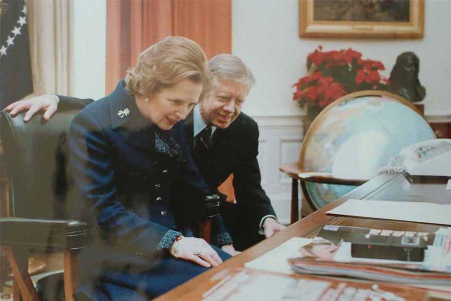 Margaret Thatcher Resolute Desk