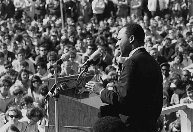 Martin Luther King Giving Anti War Speech
