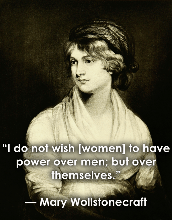 Inspirational Quotes For Women Mary Wollstonecraft