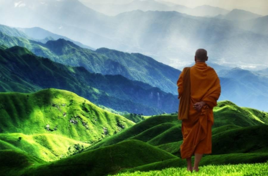 Monk On A Mountain