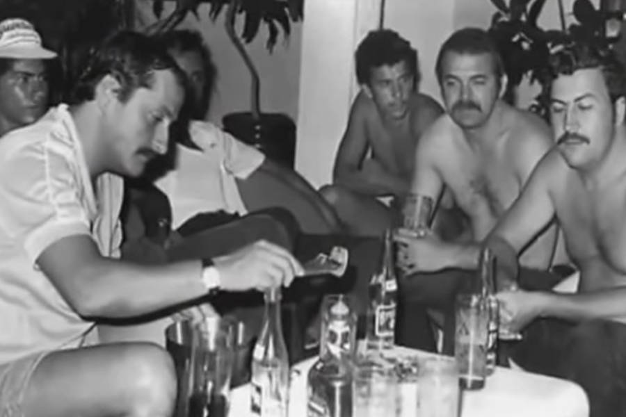 Pablo Escobar With Medellin Friends