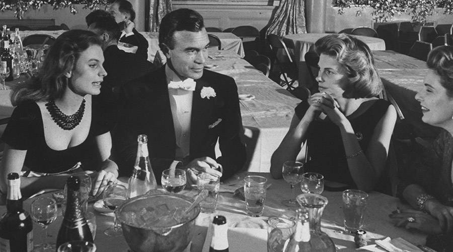 Porfirio Rubirosa At Dinner With Women