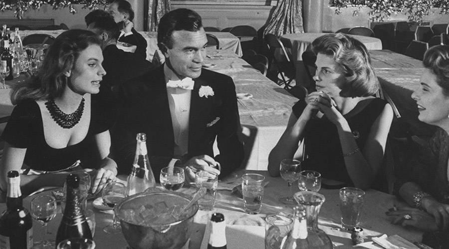 Porfirio Rubirosa At Dinner With Women