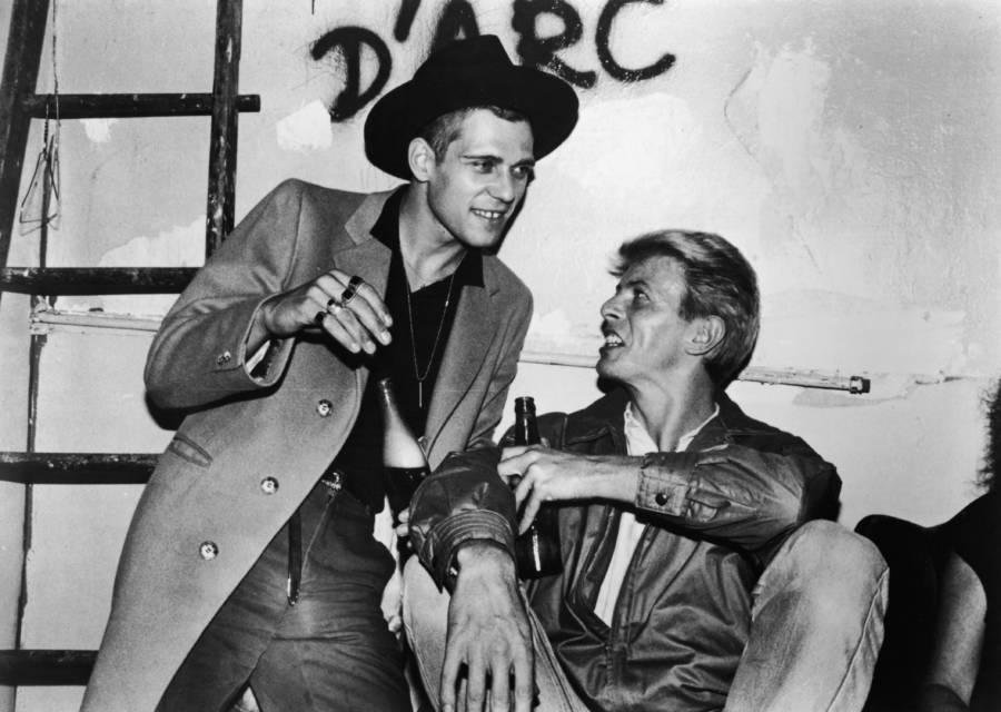 David Bowie And Paul Simonon