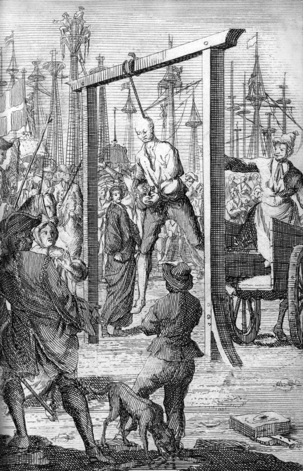 Stede Bonnet Being Executed