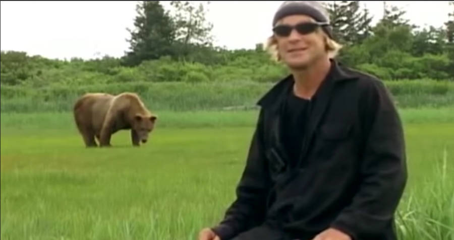 Timothy Treadwell With Chocolate