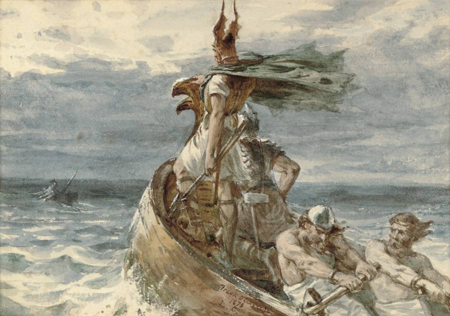 Vikings At Sea