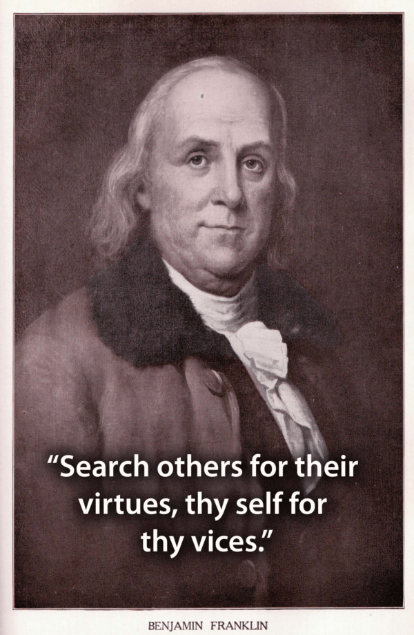 Benjamin Franklin Quotes Virtues