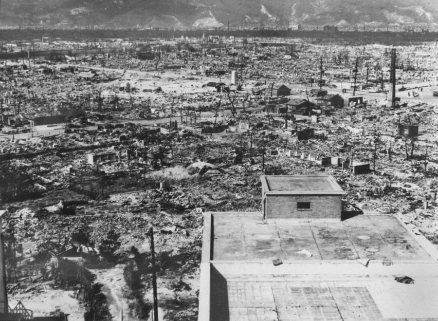 Aftermath Of Hiroshima Bombing