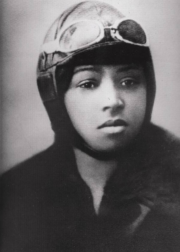 Bessie Coleman In Flight Gear