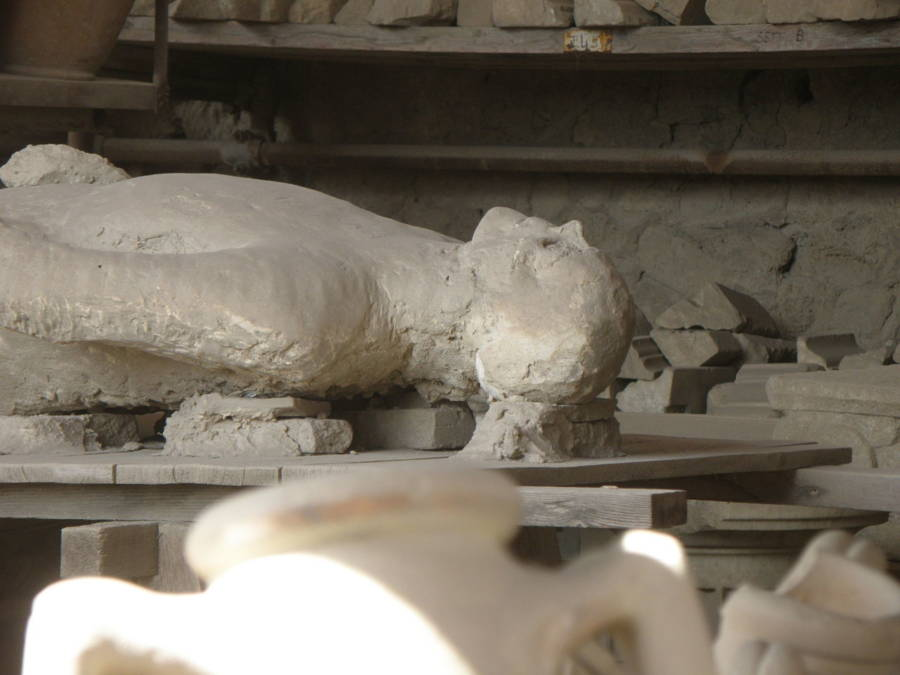 Body Excavated At Pompeii