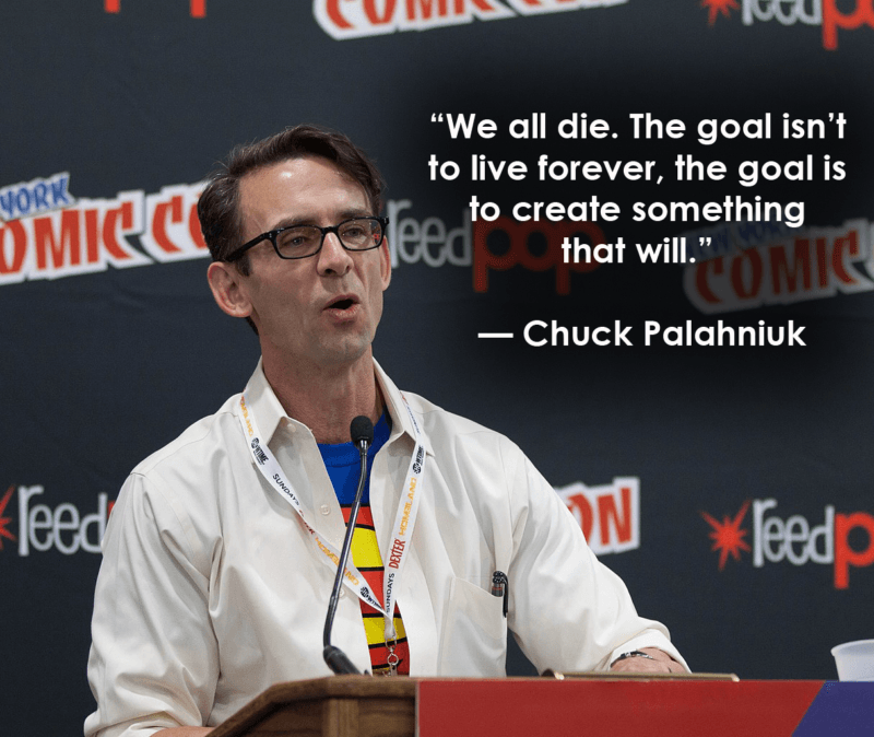 Chuck Palahniuk Death Quotes