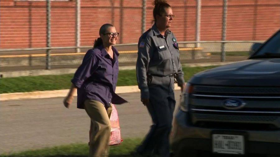Clara Harris Leaving Prison
