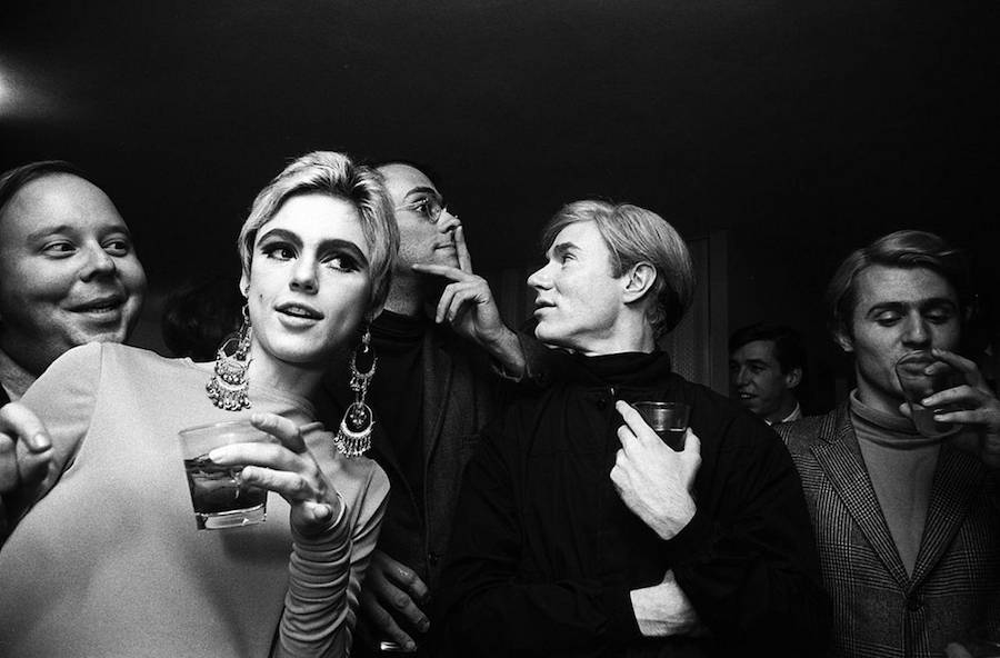 Edie Sedgwick With Warhol And Friends