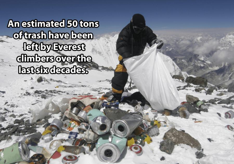 Trash On Mount Everest