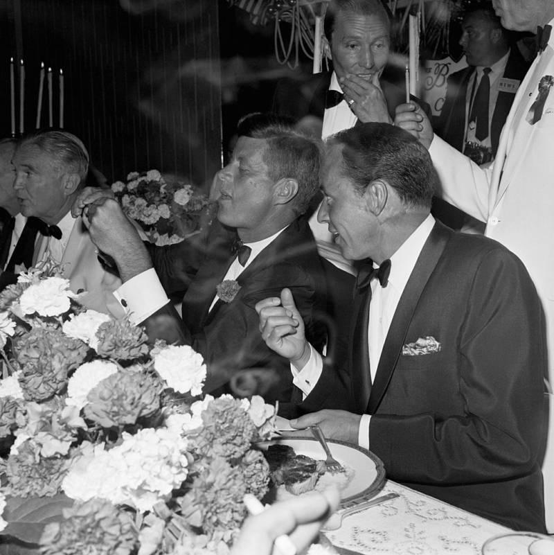 Frank Sinatra With John F. Kennedy