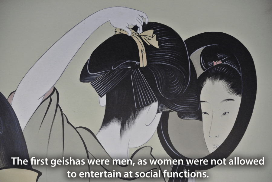 Geisha Men Mirror