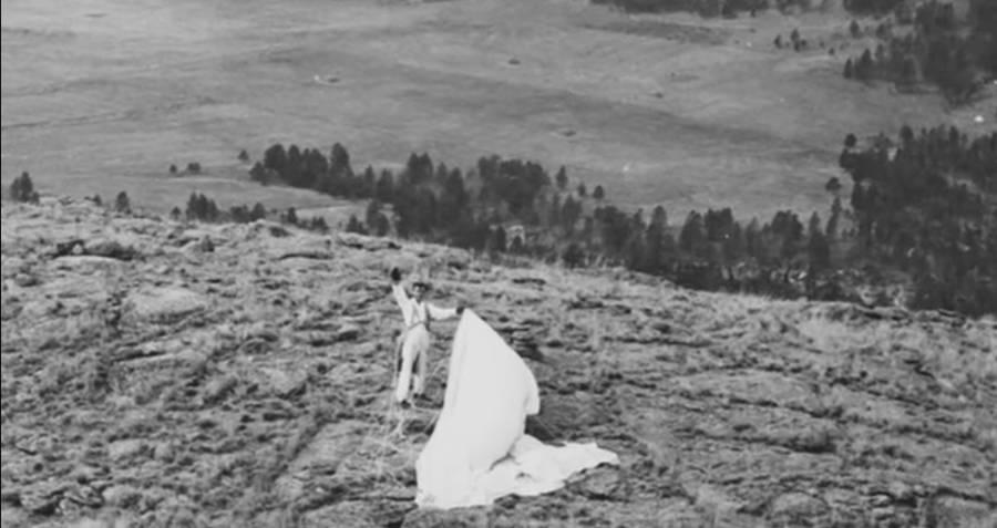 George Hopkins After Landing On Devil's Tower