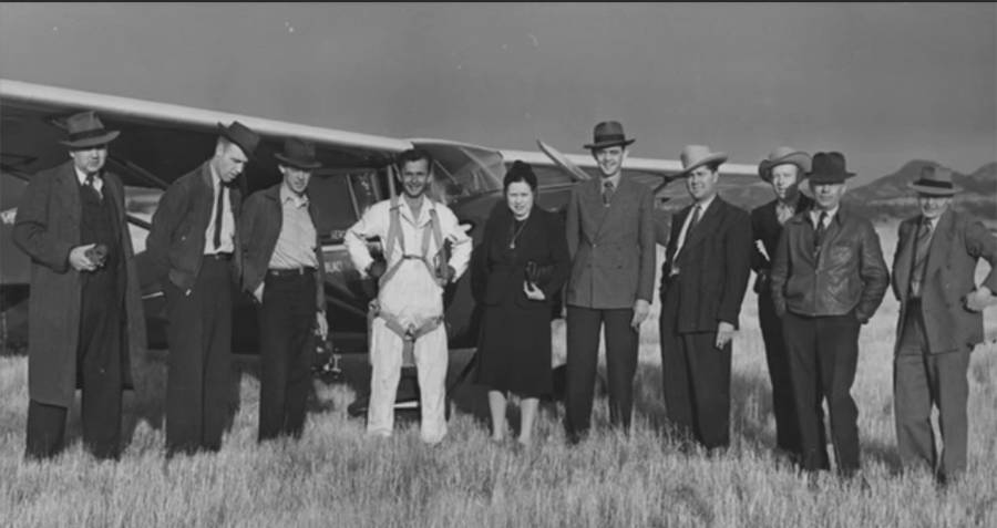 George Hopkins With Flight Crew