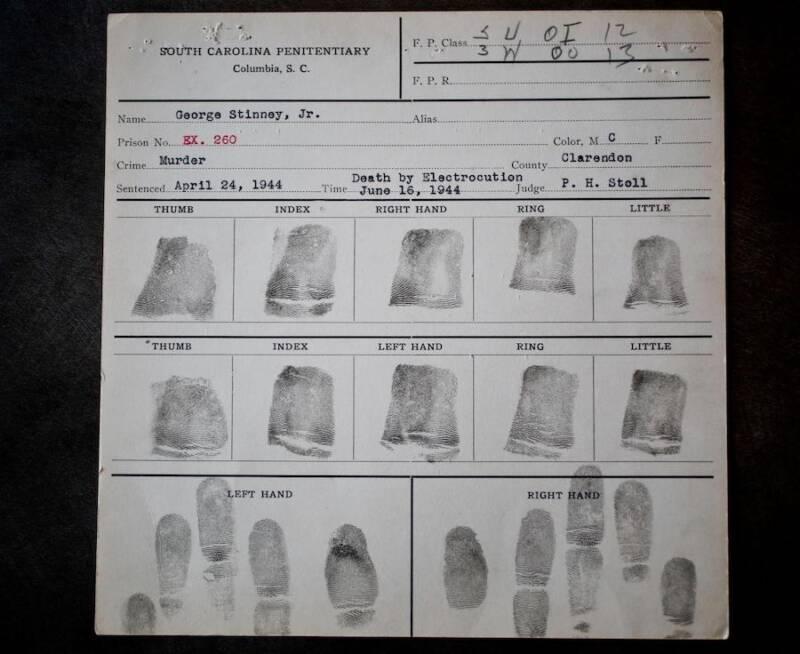 George Stinney Jr Fingerprints
