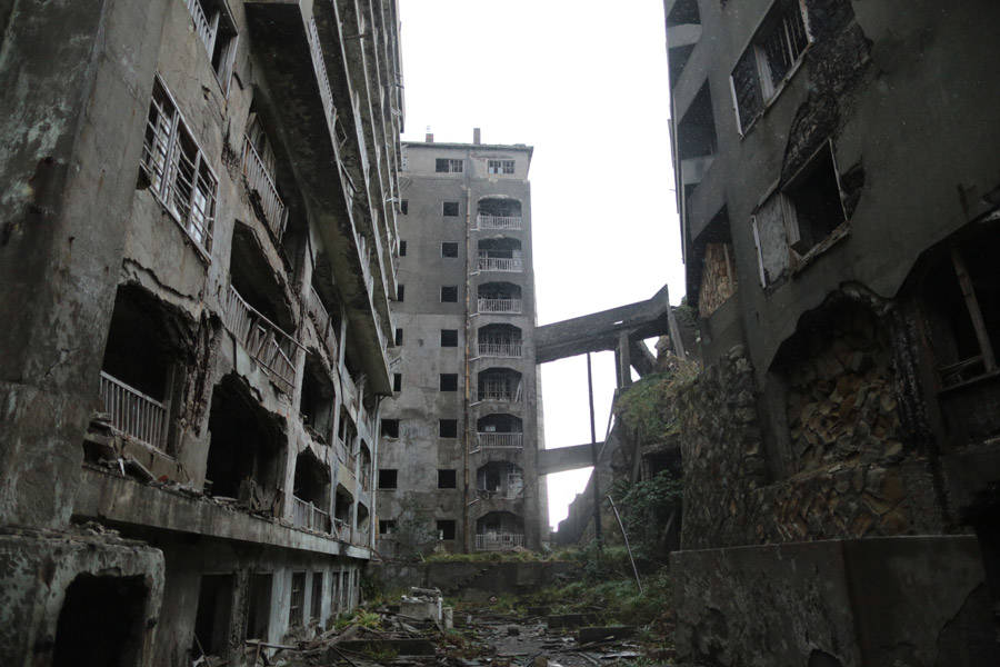 Hashima Island Abandoned Buildings