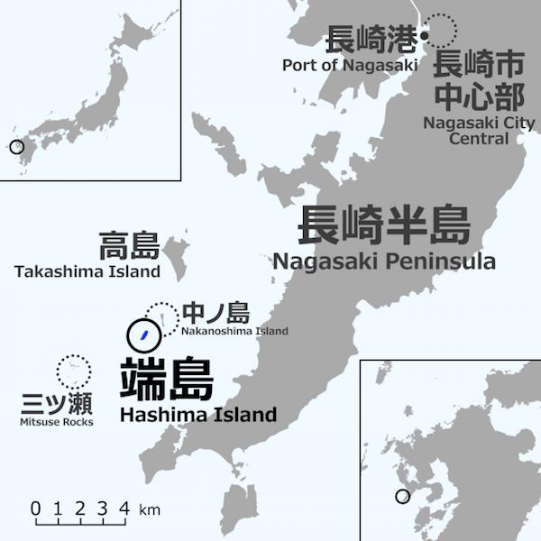 Hashima Island Map