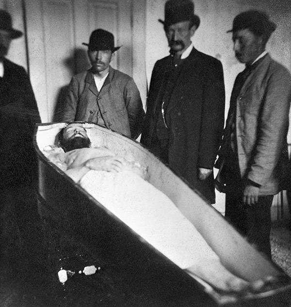 Jesse James In His Coffin