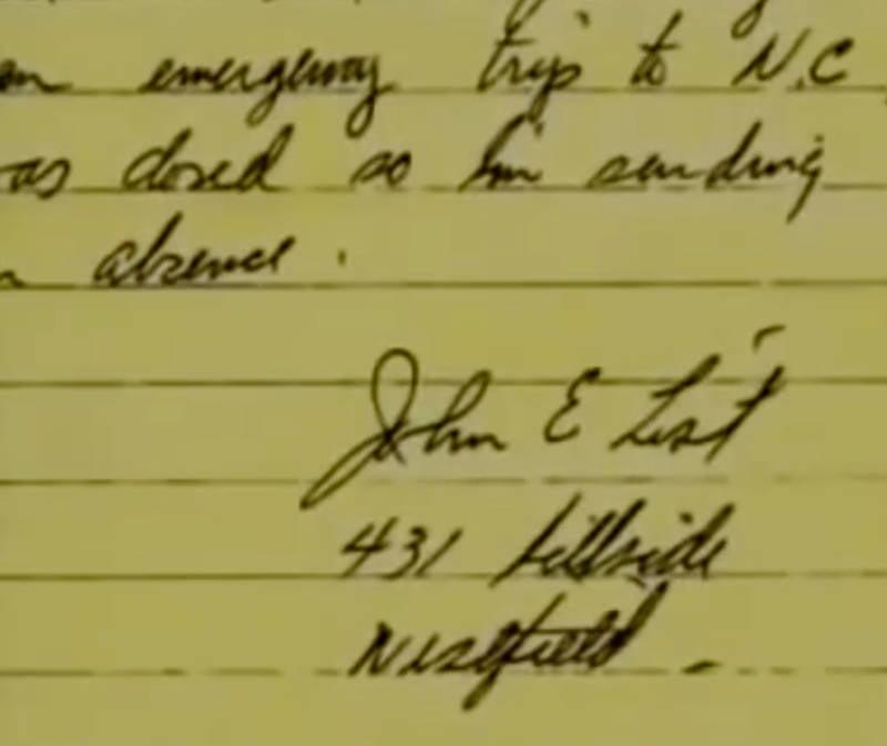 John List Note