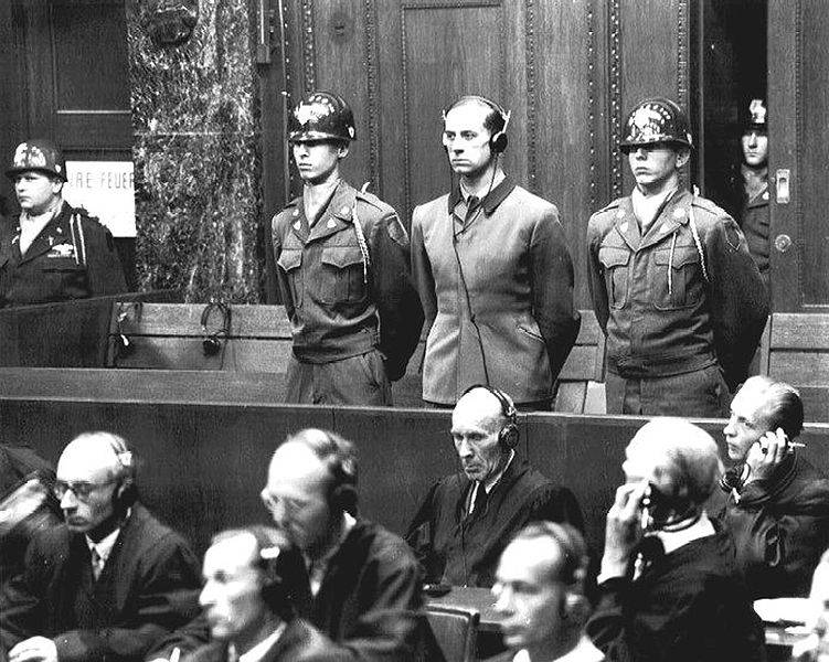 Karl Brandt At Nuremberg Trial