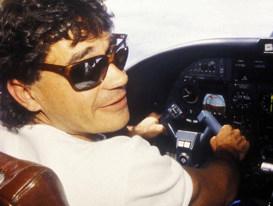 Carlos Lehder On A Plane