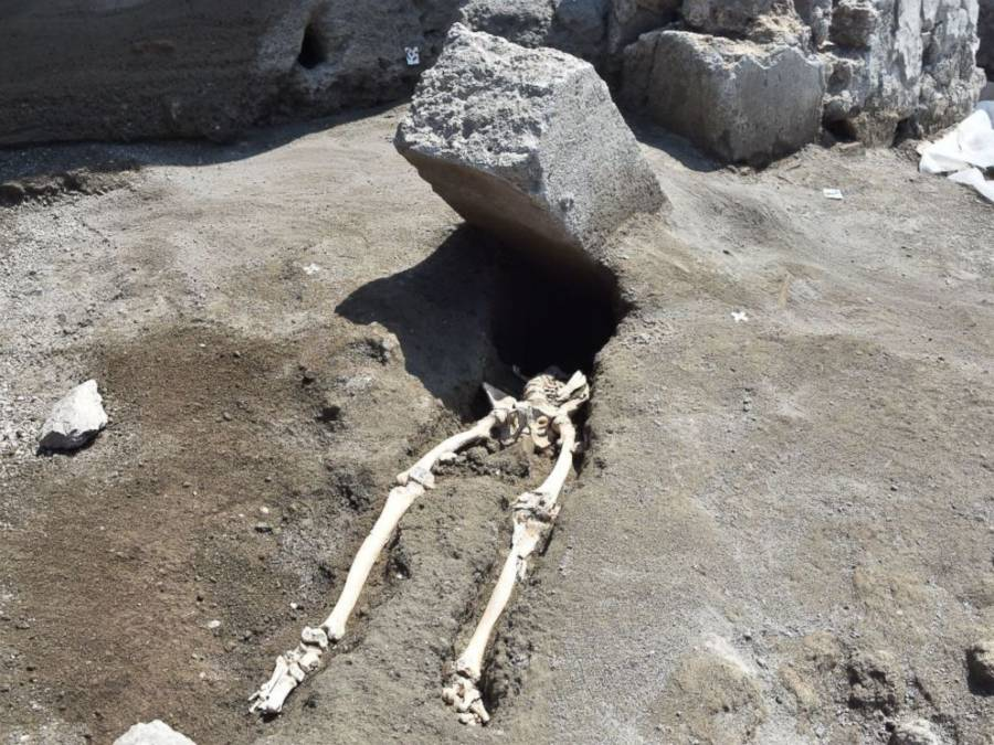 Man Crushed By Stone At Pompeii