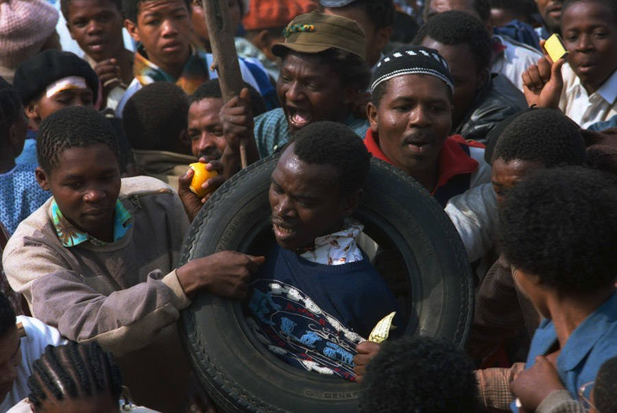 Man In Tire Before Necklacing