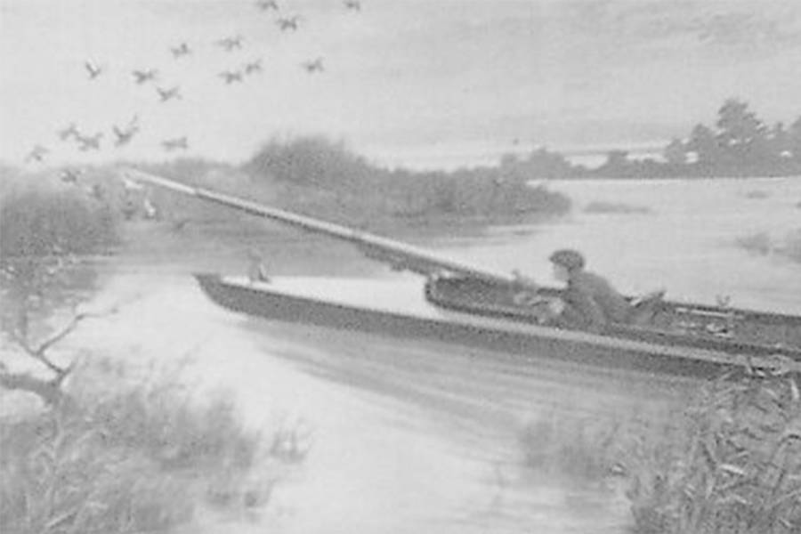 Hunter Shooting From A Punt Boat