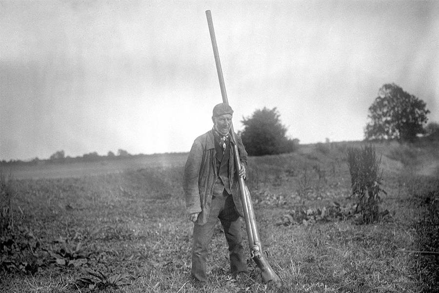 Man With Punt Gun