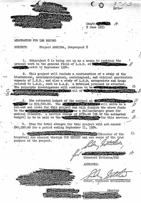 Mkultra Documents