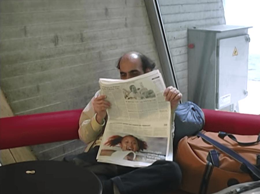 Mehran Karimi Nasseri At The Airport