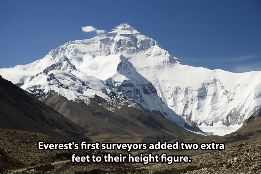 Mount Everest Facts Height