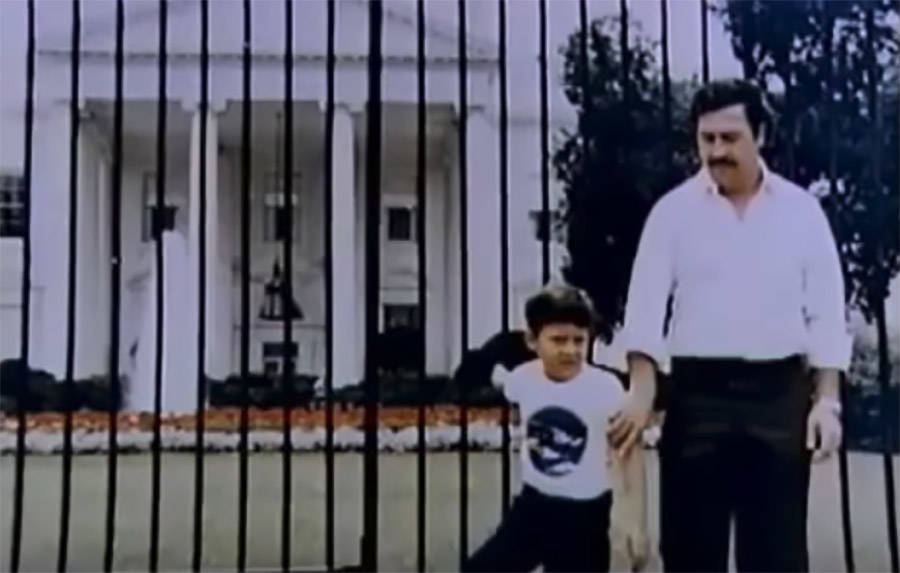 Pablo Escobar And Son In Washington