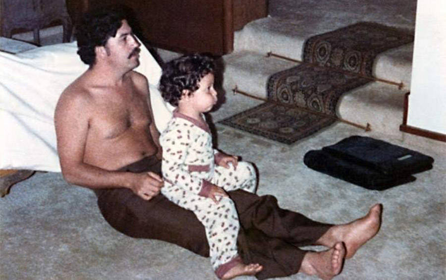 Pablo Escobar And Son